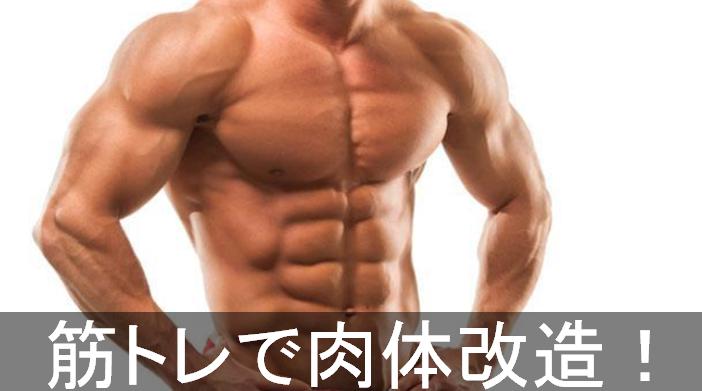 筋トレで肉体改造